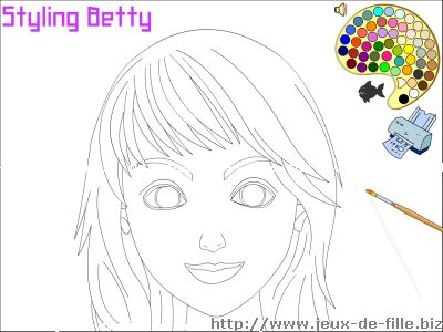Jeux de coloriage : Colorie Betty