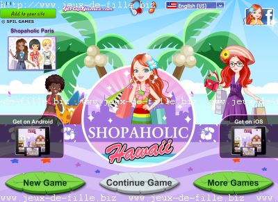 Jeux d'été : Shopping à hawaii