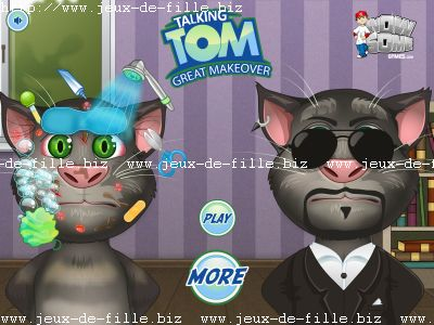 Jeux de chat : Nettoie tom le chat