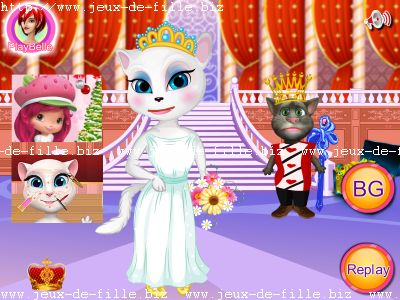 Jeux de chat : costume pour chat de princesse