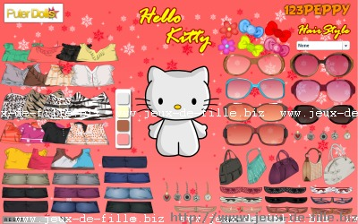 hello kitty : habiller hello kitty