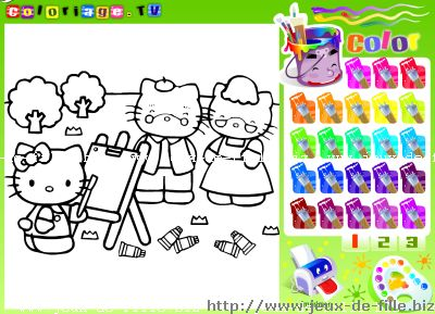 hello kitty : Coloriage Hello Kitty